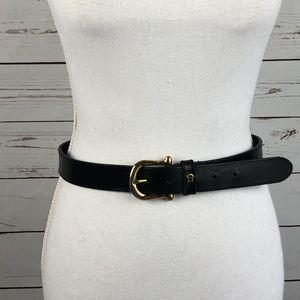 Etienne Aigner Black Leather Belt M